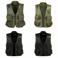 Men's Outdoor Military Vest Tactical Muliti-Pocket Protective Sports Photography