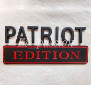 The PATRIOT EDITION Black Fit All Models Car Truck Side Biker logo CUSTOM EMBLEM