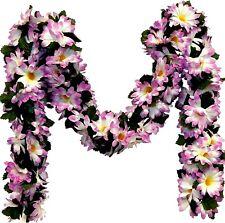 Lavender Daisy Garland 5' Silk Flowers Wedding Arch Gazebo Table Runner Backdrop