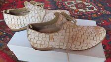 Mauron pelle stringate artigianali tg. 37 in pelle intrecciata come Valleverde