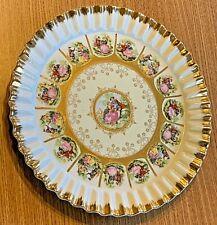 Vintage Hanging Fragonard Love Story Hand-Painted Plate Victorian J Moire Signed