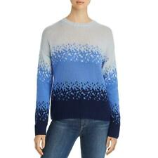 Private Label Womens Blue Ombre Cashmere Shirt Sweater Top S BHFO 5722