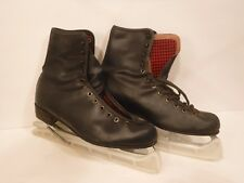 Men's Black Royal Canadian Ice Skates Size ? Blades Figure Skates #9253