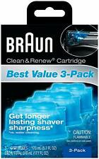 Braun Clean and Renew 3 Cartridges Pack-Refills-CCR-Series 3 5 7 9 Shaver New