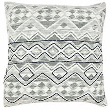 Geometric Kilim Decorative Embroidered Cotton Print Cushion Pillow Cover 18x18