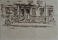 JAMES McNEILL WHISTLER - Justice Walk - Photogravure after etching - 1922.
