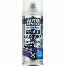 2 x 400ml Clear Lacquer Gloss Spray Paint Aerosol Can Auto Extreme Metal Wood
