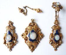 Pendentif et boucles d'oreille en OR massif 19e siècle gold earings and pendant