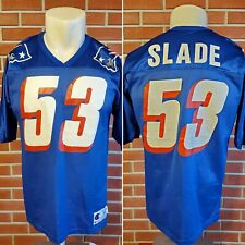 Chris Slade New England Patriots NFL Vintage Champion Jersey Blue Mens 44 Adult