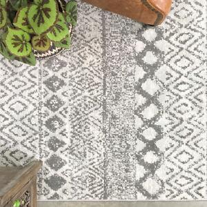Tribal Geometric Rug | Cheap Small Large Living Room Rugs | Grey Hall Runners