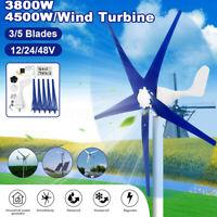 4500W Max Power DC12/24/48V 3/5Blades Wind Turbines Generator Charge ControllerA