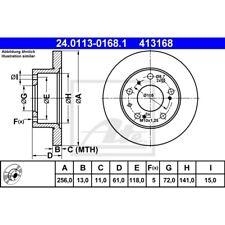 ORIGINAL ATE Bremsscheiben Satz vorne Citroen C25 ua. Bj.81-
