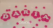 Letters,numbers,name blocks,stars,spots,Handmade edible cake decorations toppers