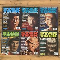 Star Trek The Official Monthly Magazine 1995 #10 Thru To #15 6 Issues Kirk Spock