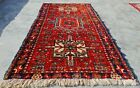 Authentic Hand Knotted Vintage Serapi Hareez Wool Area Rug 4 x 2 Ft (11576 KBN)