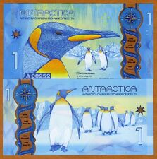 Antarctica, $1, 2015, Clear Window Polymer, New Design, UNC > Penguins