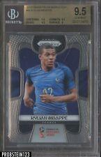2018 Panini Prizm Soccer World Cup Kylian Mbappe France BGS 9.5 GEM MINT