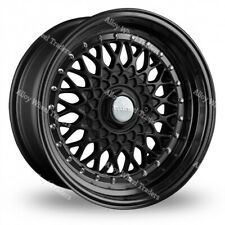 "Alloy Wheels 17"" RS For Mazda 2 323 Demio Flair Mx-3 Mx-5 4x100 Full Black"