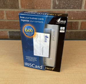 I.R.I.S. IRISCard Pro 4 Business Card Scanner PC MAC 4.0 Small Box New