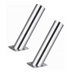 2 Pcs Stainless Steel 15 Degree Flush Mount Fishing Rod Holder Narrow Top
