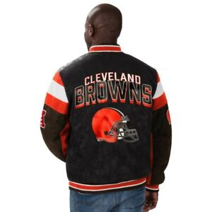 Cleveland Browns NFL leather jacket NWT