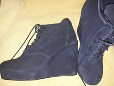 TOPSHOP ANDRE NAVY SUEDE LEATHER BOOTS SIZE 8/9 EU 42