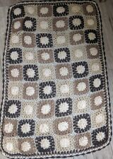 Crochet Throw Blanket Hand Crafted 140cm x 100cm Choice of 4 Colours