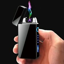 Windproof Dual Arc Flameless Electronic USB Rechargeable Electric Lighter