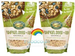 2 Packs Nature's Path Organic Pumpkin Seed + Flax Granola 35.3 oz Each Pack