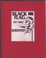 BLACK FLAG MY WAR all flyers by Raymond Pettibon - RARE - UNDERGROUND PRESS