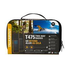 Motorola Talkabout T475 Extreme Two-Way Radio, 35 Mile, 2 Pack, Black & Yellow