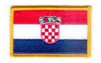 Toppe Toppa PATCH CROAZIA Bandiera 7x4.5cm banderina ricamata termoadesivo