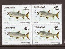 ZIMBABWE, FISH, TIGERFISH, SG 761, MNH BLOCK 4, CAT £4