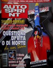 Autosprint 47 1996 Sauber - Ferrari. Larini guiderà con Herbert. Ralph S. SC.56