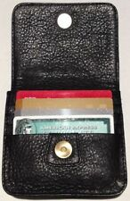 Black Pebble Leather Wallet for Belt or Waistband, Unique New Design