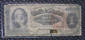 """++  """"MARTHA""""  1886 SILVER CERTIFICATE  LARGE SIZE NOTE BILL POOR CONDITION ++"""