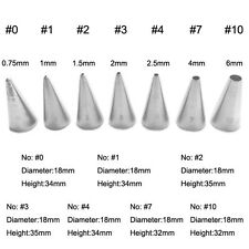 7Pcs/Set Stainless Steel Piping Icing Nozzles Cake Decorating Metal Cream Tips