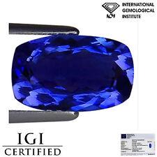 2.84 Ct IGI Certified AAA Natural D Block Tanzanite Blue Violet Cushion Cut