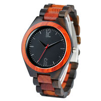 Fashion Luxury Full Wood Bangle Mens Wooden Wrist Watch Simple Casual Male Gift