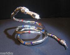 "NEW Flexible posable metal snake armlet, necklace, bracelet,  34"" wrap around"