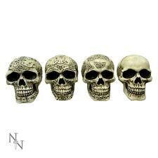 "NEMESIS NOW ""SINISTER SMILES* SET OF 4 SKULLS GOTHIC/SKELETON NEW BOXED"