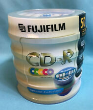 New! Fujifilm CD-R 50 Pack of Color Discs 80 Min 700MB up to 48X w/ Label Kit