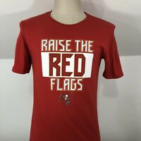 NIKE Tee Tampa Bay Buccaneers Raise the Flag T Shirt Mens Small Athletic Cut NFL