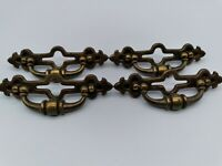 Vintage Keeler Brass Hardware Drawer Bale Pulls Ornate Boho Traditional Classic