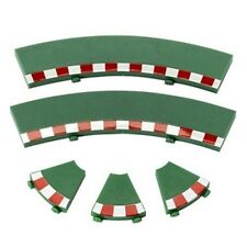 SCX 87940 1/32 Analog Green Inner Curve Track Border Set (4) Slot Car Tack