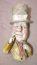 vintage rare 1971 W.C. Fields heavy plaster bust wall figure statue sculpture