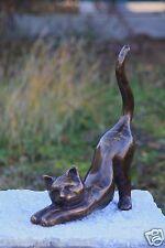 gato tigrecillo Figura de bronce NUEVO Animal RESISTENTE HELADAS Decoración