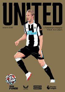 Sold Out Newcastle United V Tottenham Hotspur 21/22 Premier League Programme