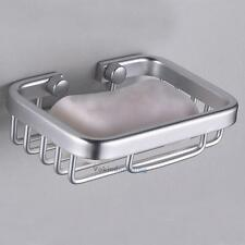 Sink Soap Dispenser Tray Dish Holder Bathroom Shower Space Aluminum Wall-Mounted