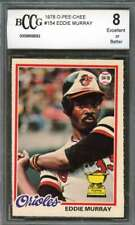 Eddie Murray Rookie Card 1978 O-Pee-Chee #154 Baltimore Orioles BGS BCCG 8